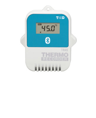 T&D TR-45 Bluetooth datalogger temperatuur, thermokoppel / Pt100 / Pt1000, extern
