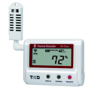 T&D TR-72wb WLAN / Bluetooth humidity + temperature logger