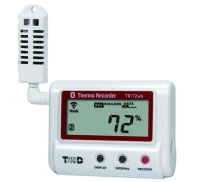 T&D TR-72wb Wifi / Bluetooth vochtigheid + temperatuur logger