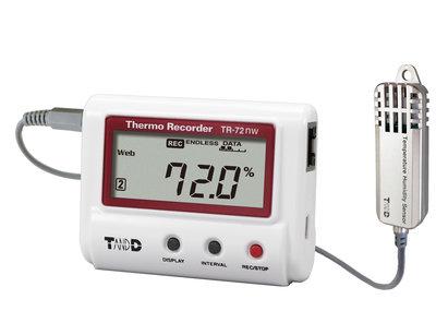 T&D TR-72nwS LAN vocht + temperatuur logger