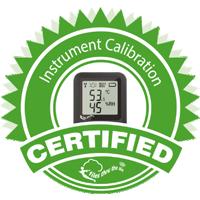 Kalibratie certificaat op 2 meetpunten
